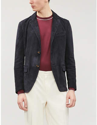 Brunello Cucinelli Contrast-trim wool and cashmere-blend jumper