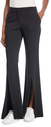 A.L.C. Capen Flared-Leg Split-Hem Pants