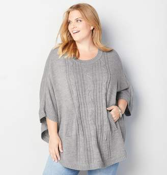 Avenue Cable Front Poncho