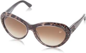 Swarovski Women's Darling Oval Sunglasses,Animal