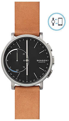 Skagen Hagen Connected Titanium and Leather Hybrid Smart Watch