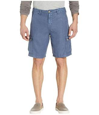 True Grit Textured Linen Cargo Shorts