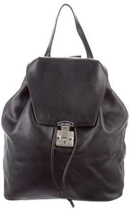 Dolce & Gabbana Leather Drawstring Backpack