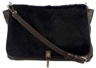 Elizabeth and James Ponyhair-Trimmed Cynnie Crossbody Bag