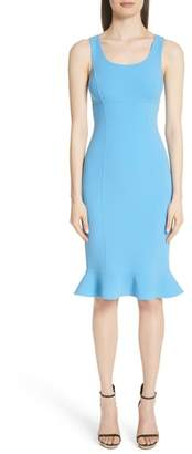 Michael Kors Ruffle Hem Stretch Wool Dress