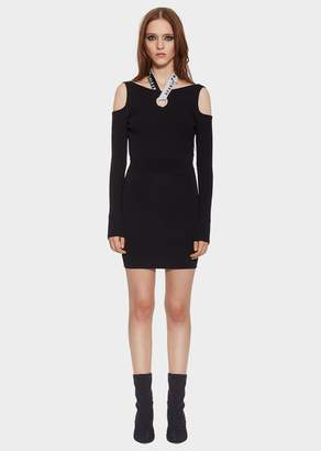 Versace Versus Logo Band Cut-Out Mini Dress