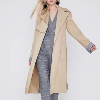 River Island Womens Beige check insert longline trench coat