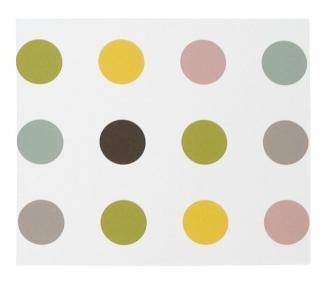 DwellStudio Wall Art Dots Wall Art In Lemon