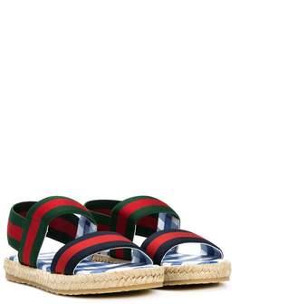 Gucci Kids Web espadrille sandals
