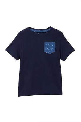 Tailor Vintage Chambray Dots Pocket Tee (Toddler Boys)