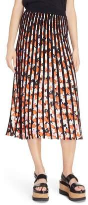 Kenzo Knit Pleated Midi Skirt
