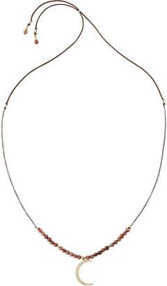 Nakamol Long Beaded Moon Y-Drop Necklace