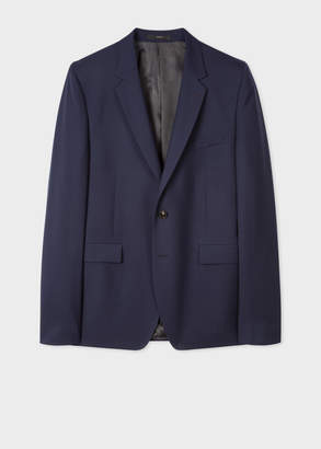 Paul Smith Men's Slim-Fit Light Navy Wool 'A Suit To Travel In' Blazer