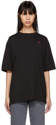 6397 SSENSE Exclusive Black Embroidered Rose Sport T-Shirt