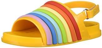 Mini Melissa Girls' Mini Beach Slide Rainbow Flat Sandal,6 Regular US Toddler