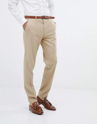 Asos DESIGN skinny suit pants in camel