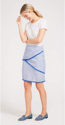 J.Mclaughlin Mallorca Linen Skirt in Stripe