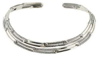 David Yurman Diamond Labyrinth Link Collar Necklace silver Diamond Labyrinth Link Collar Necklace