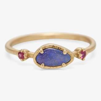 Yasuko Azuma Jewelry Yasuko Azuma One-of-a-Kind Boulder Opal & Ruby Ring