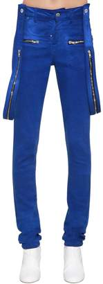Filles a papa Skinny Twisted Denim Jeans W/ Suspenders
