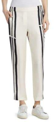 Theory Striped Stretch Trousers