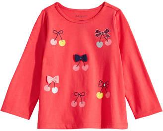 First Impressions Toddler Girls Cherries-Print Cotton T-Shirt
