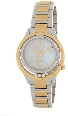 Citizen Women's Eco-Drive L Sunrise LS Diamond Accented Two-Tone Bracelet Watch, 33mm - 0.015 ctw