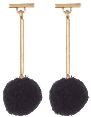Madewell Pompom Drop Earrings