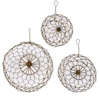 3R Studios Wire Hanging Baskets Set of 3