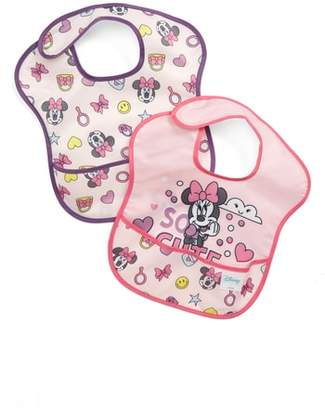 Bumkins 2-Pack Minnie Mouse(R) SuperBib Set