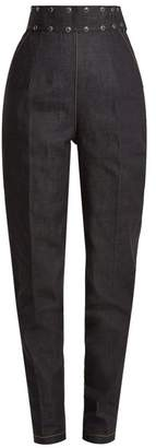 Toga Stud Embellished Tapered Leg Jeans - Womens - Navy