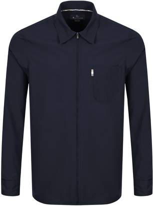 Aquascutum London Long Sleeved Brodie Shirt Navy