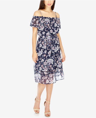 Lucky Brand Off-The-Shoulder A-Line Dress $129 thestylecure.com