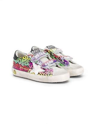 Golden Goose Kids printed Superstar strap sneakers
