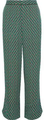 Marni Printed Crepe Wide-Leg Pants