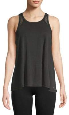Betsey Johnson Cut-Out Mesh Racerback Tank Top