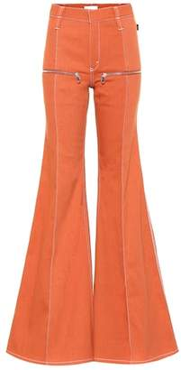 Chloé High-rise flared jeans