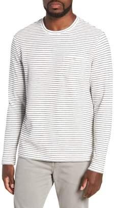 Michael Bastian Stripe Long Sleeve Pocket T-Shirt
