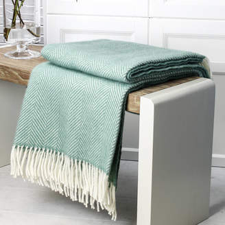 Marquis & Dawe Sea Green Wool Throw