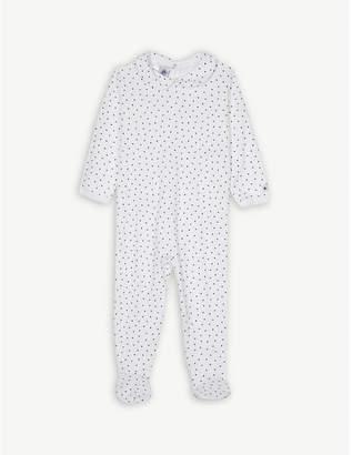 Petit Bateau Heart print cotton sleepsuit 1-24 months