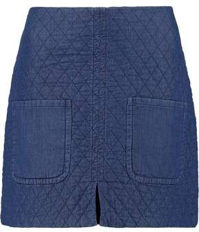 See by Chloe Quilted Cotton Mini Skirt