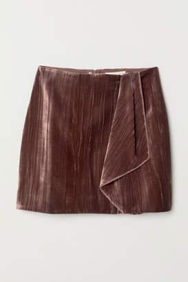H&M Velvet Skirt - Pink
