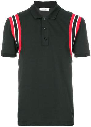 Valentino stripe shoulder polo shirt