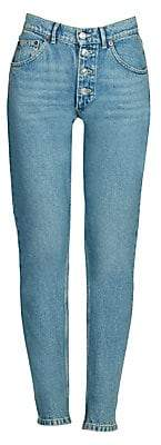 Balenciaga Women's Tube Straight-Leg Jeans