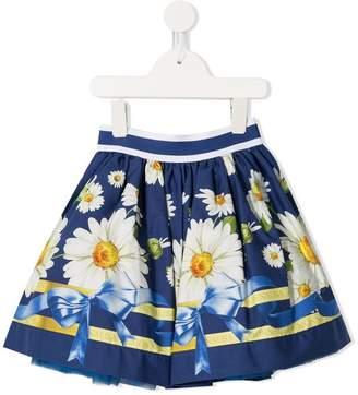 MonnaLisa daisy print full skirt