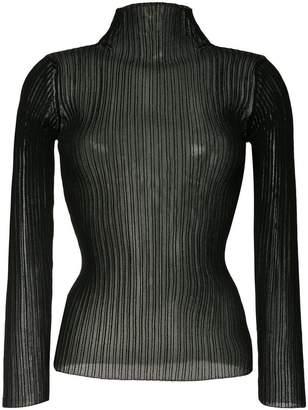 ... Le Ciel Bleu See-through ribbed sweater 1ae5277e2