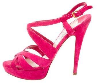 Miu MiuMiu Miu Suede Platform Sandals