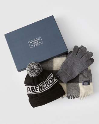Abercrombie & Fitch Scarf###Beanie & Gloves Gift Set