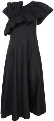 GOEN.J one shoulder midi dress