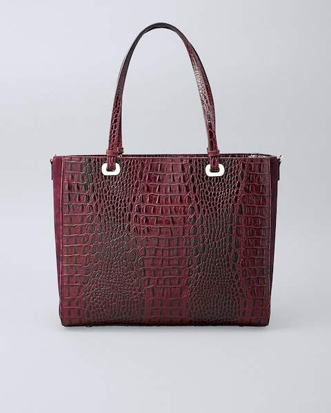 Whbm Leather Croc-Embossed Tote
